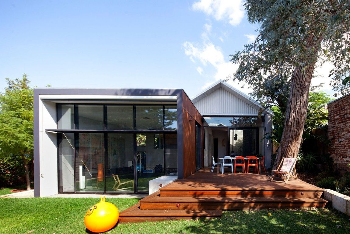 Modern Addition To Traditional House Heritage Listed Venue With Additions In Maylands Australia