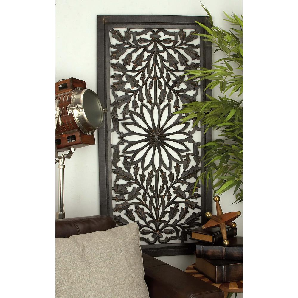 Litton Lane 51 In X 24 In Traditional Decorative Wooden Wall Panel 34124 The Home Depot Decorative Wall Panels Wooden Wall Panels Wood Panel Walls