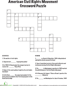 graphic regarding Printable Chicago Tribune Crossword called Civil Legal rights Crossword Ancient Heroes Black historical past