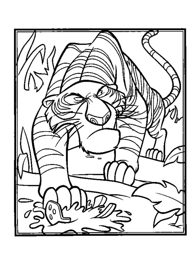 Jungle Book Shere Khan Snoop | Coloring Pages 2 | Pinterest