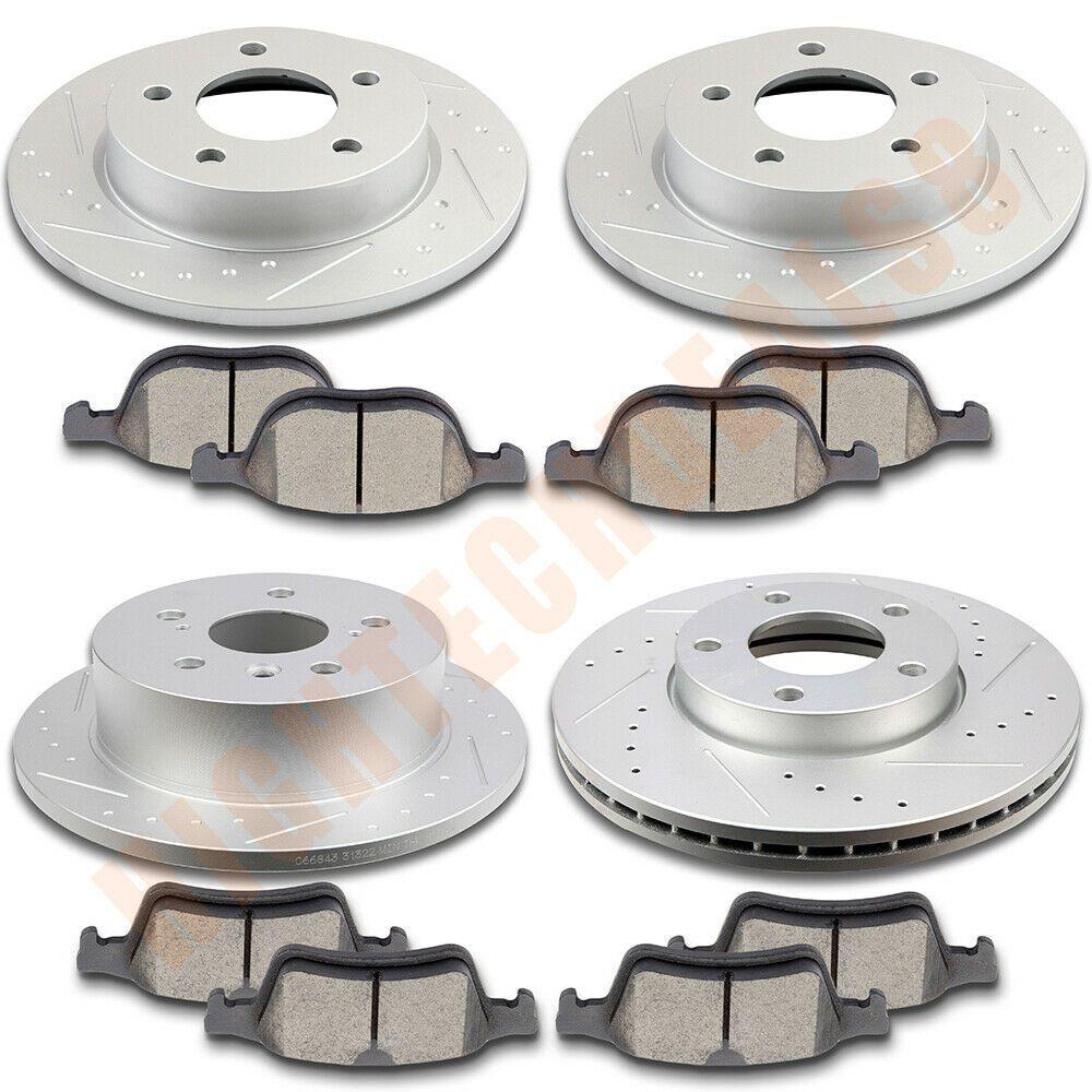 Rotors w//Ceramic Pads OE Brakes Rear Fits: 2005 06 07 08 2009 Legacy