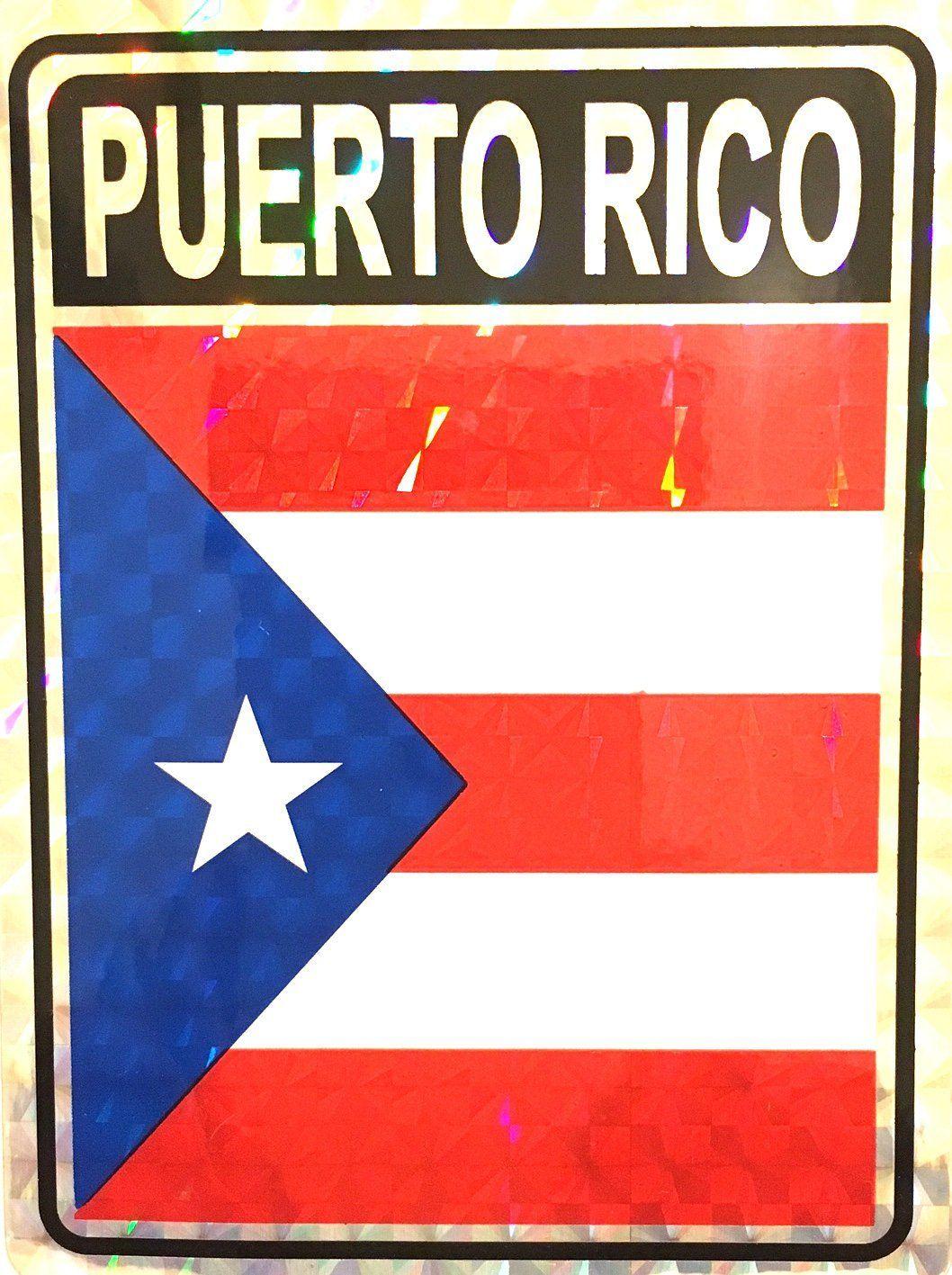 Puerto Rico, Puerto Rico Flag, Puerto rico Flag sticker
