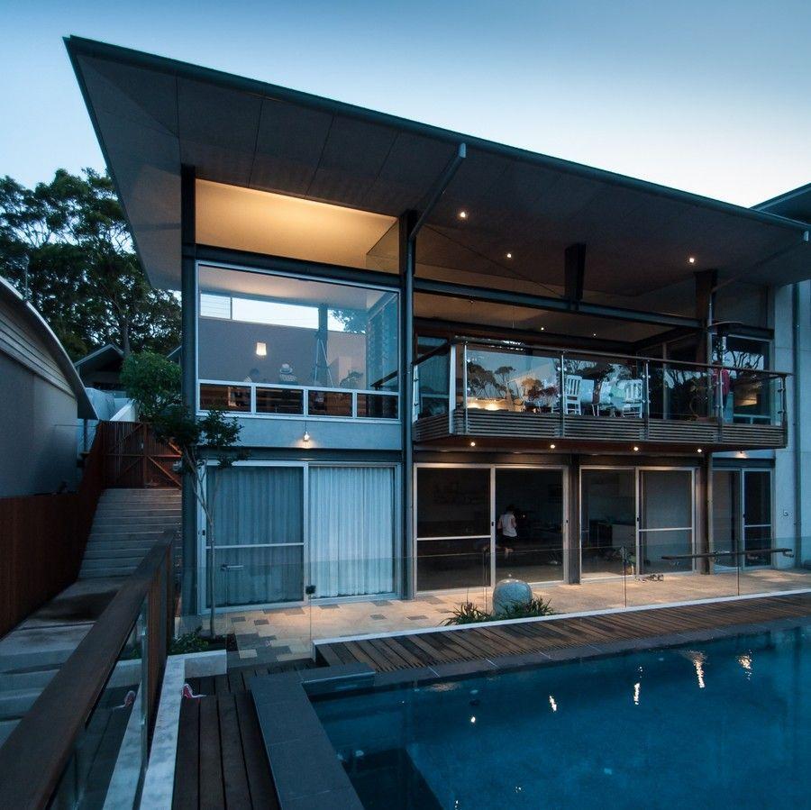Design modern architecture exquisite views and fine modern details shane blue house in australia