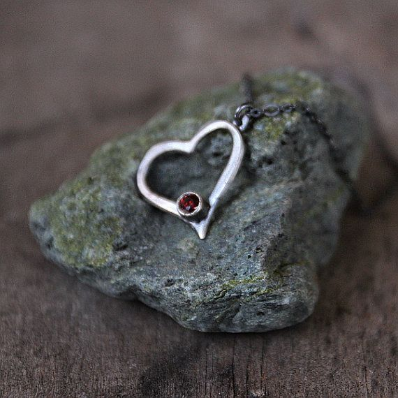 Heart pendant Valentines #gift for beloved women by Naryajewelry