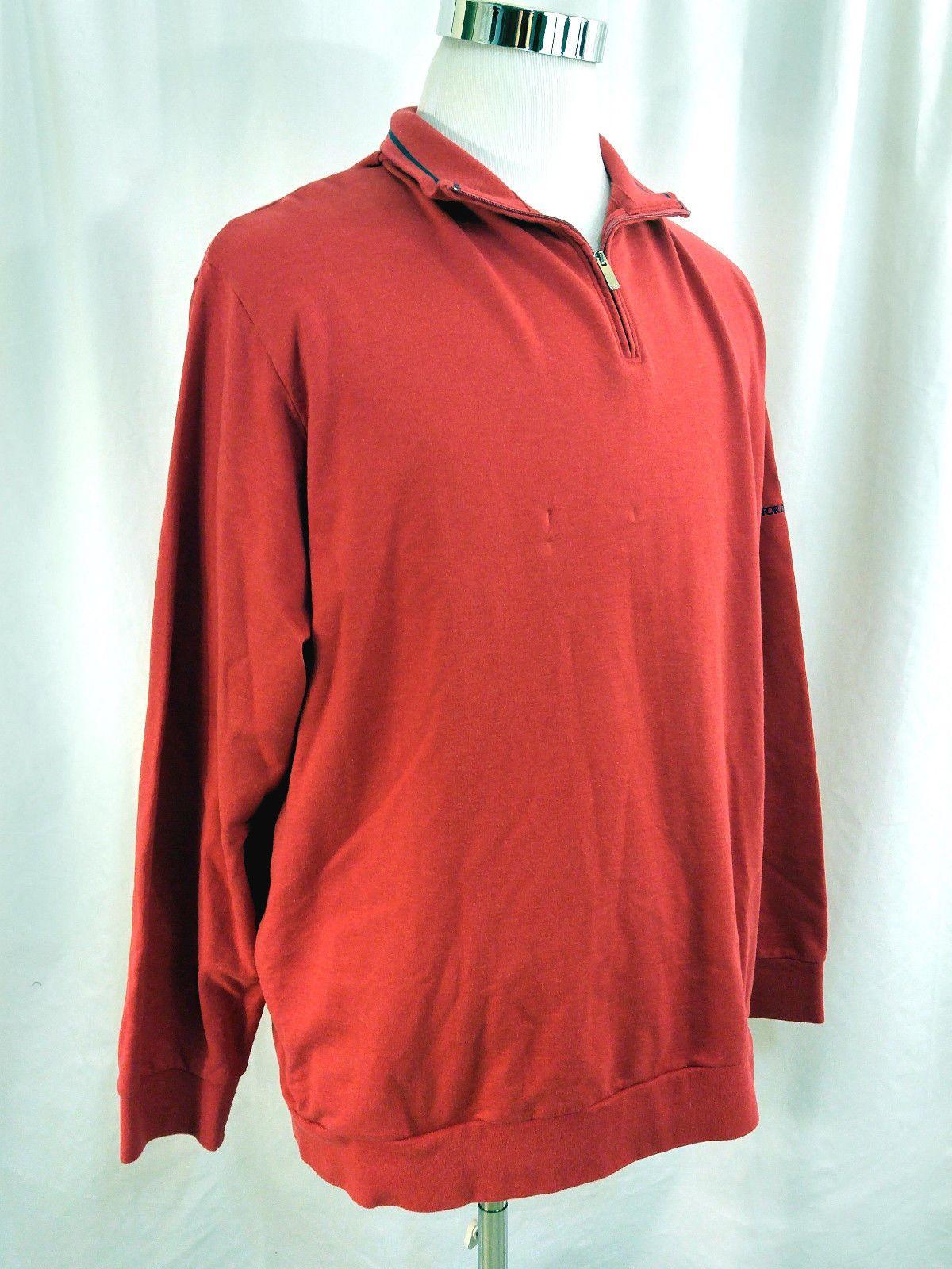 9b3ad7069 NEW Ralph Lauren Polo Golf Long Sleeve Red 1/2 Zip Shirt Forest Hills XL  X-Large
