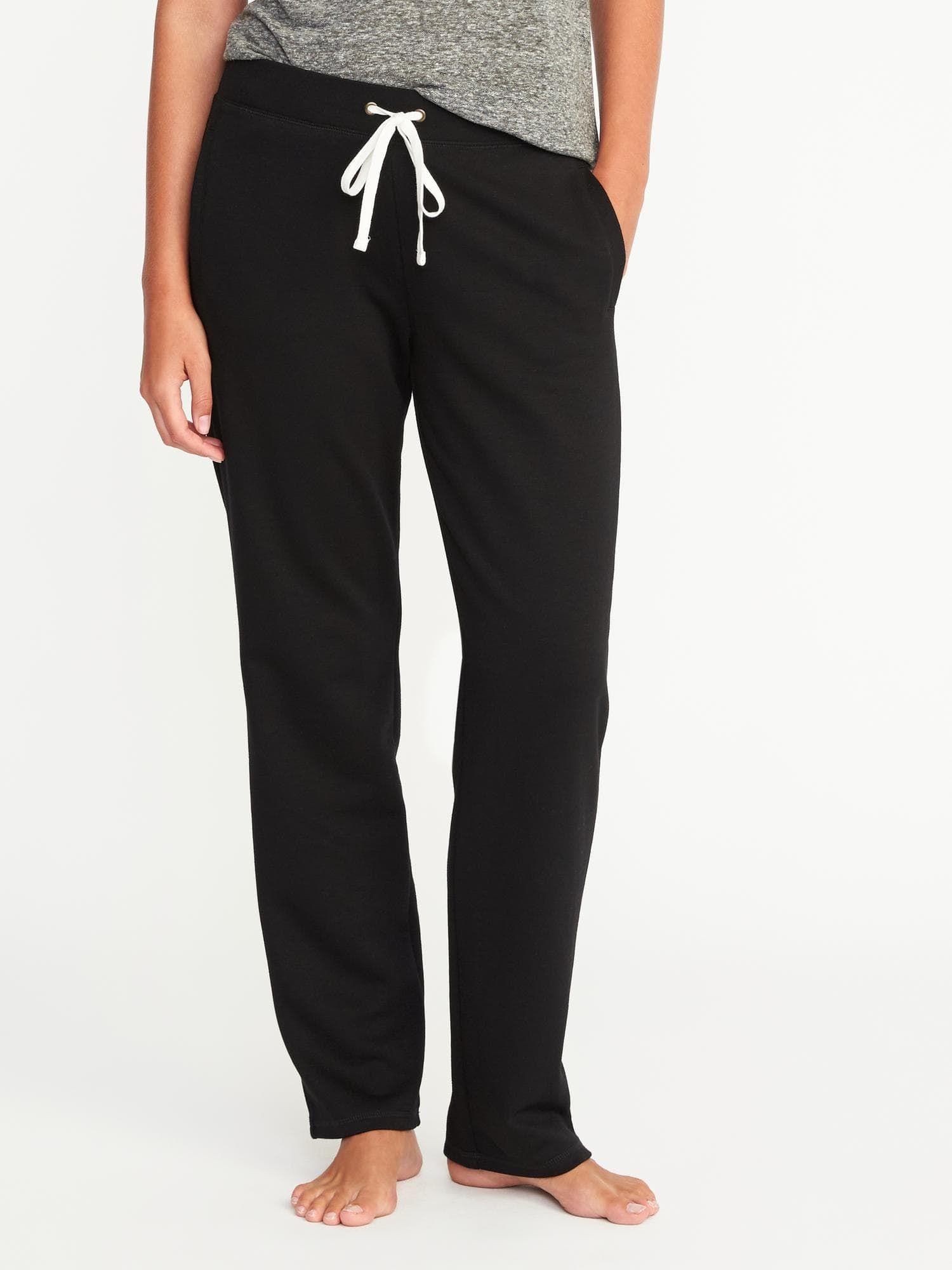 1b3cd40a11b French Terry Straight-Leg Sweatpants for Women