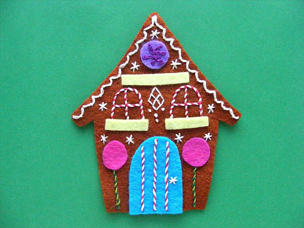 Gingerbread A Free Felt Christmas Ornament Pattern With Images