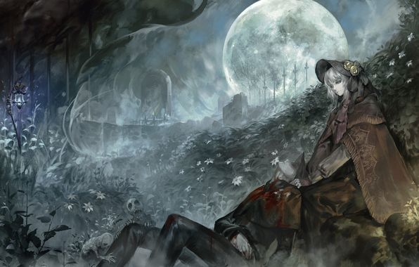 Wallpaper Bloodborne The Doll The Hunter Alcd Art Guy Girl 2k Wallpaper Wallpaper De Anime Heroe