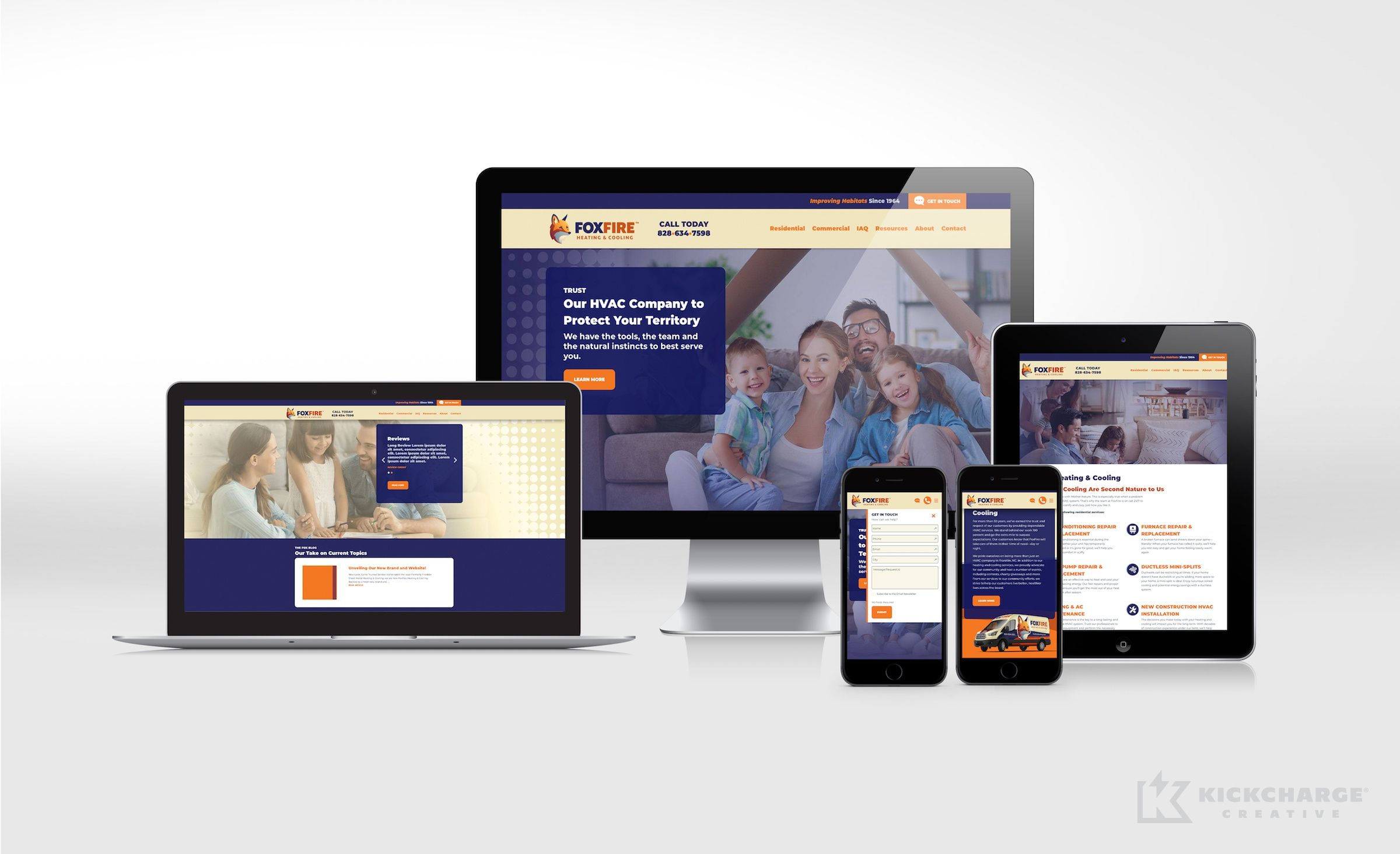 Website Design For Foxfire Heating Cooling Nj Advertising Agency Nj Ad Agency Nj Web Design Nj Logo Desi Portfolio Web Design Brand Strategy Interactive