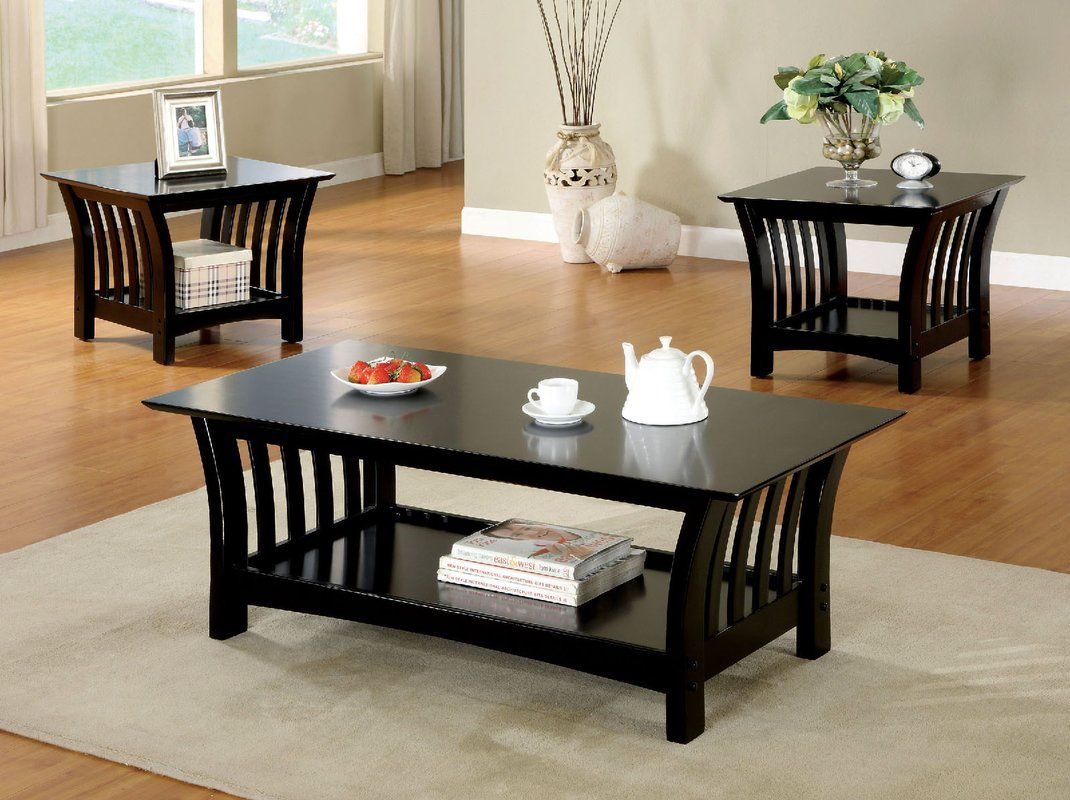 Best Heslin 3 Piece Coffee Table Set Coffee End Tables 400 x 300
