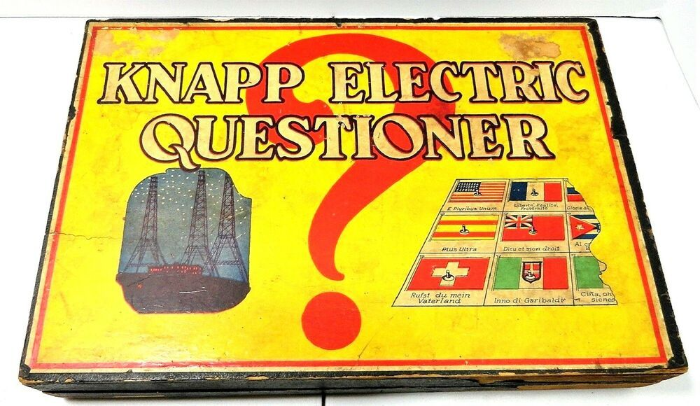 Antique Vintage Knapp Electronic Questionnaire Game Landline Codes Morse Code Knapp Antique Collection Vintage Games Antiques