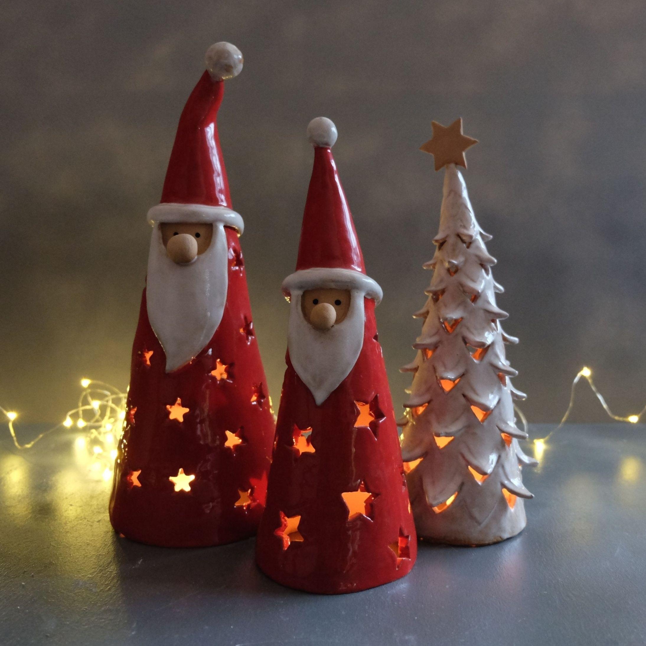Christmas Tree Ribbon Xmas Gift Christmas Decoration Round Disc Handmade Polymer Clay Merry Christmas Snowflake
