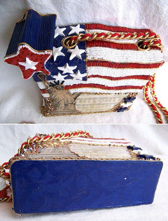 Vintage Mary Frances American Beaded Box Bag