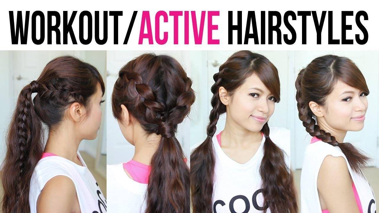 Cute easy backtoschool gym hairstyles for medium to long hair