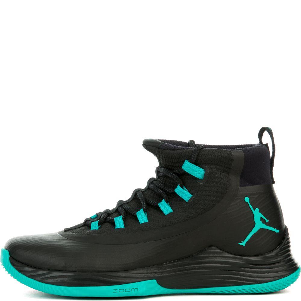 Jordan Ultra Fly 2 Black Clear Jade Black Black Laces High Top Jordans Black Jordans