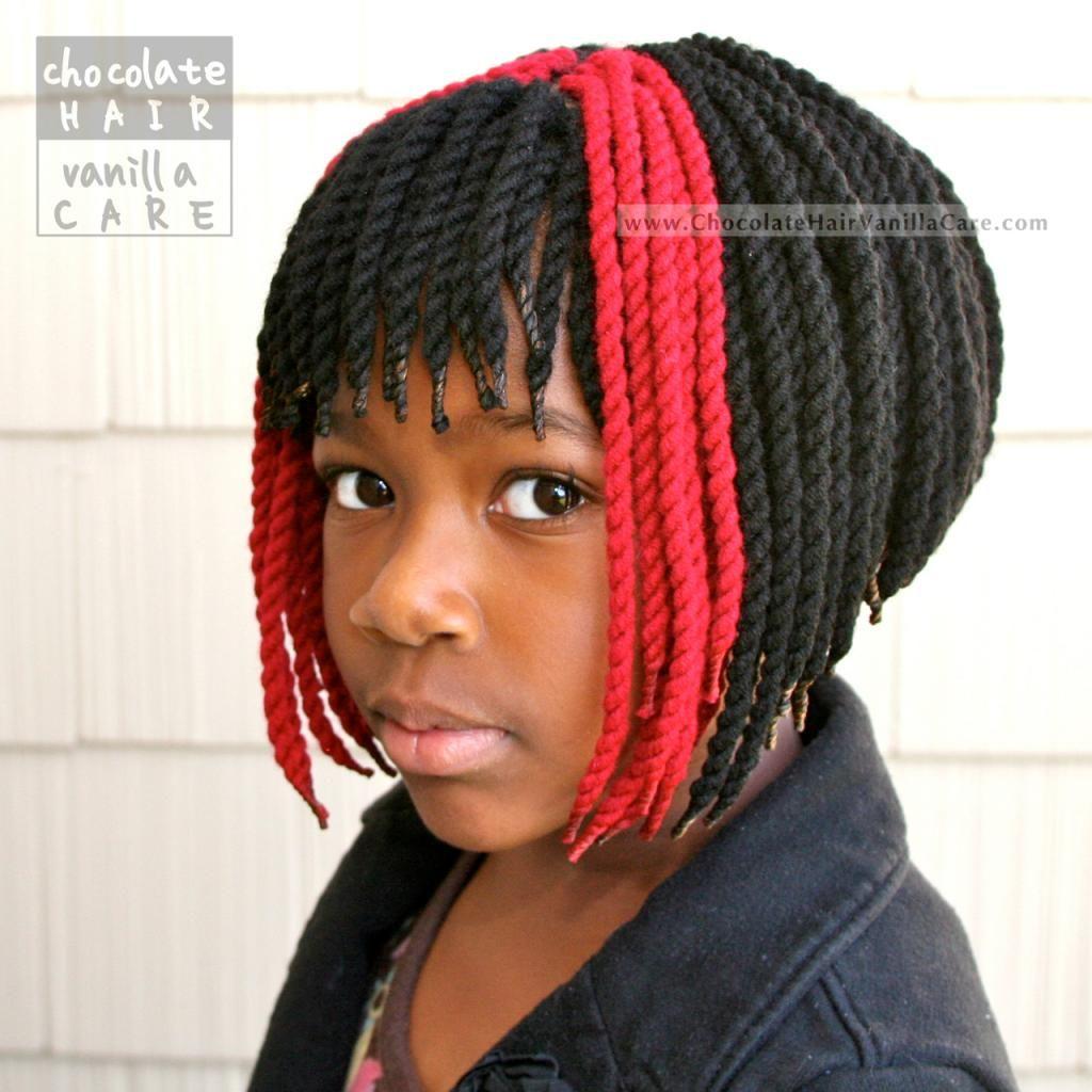 Chocolate Hair / Vanilla Care: Short Yarn Crochet Twists