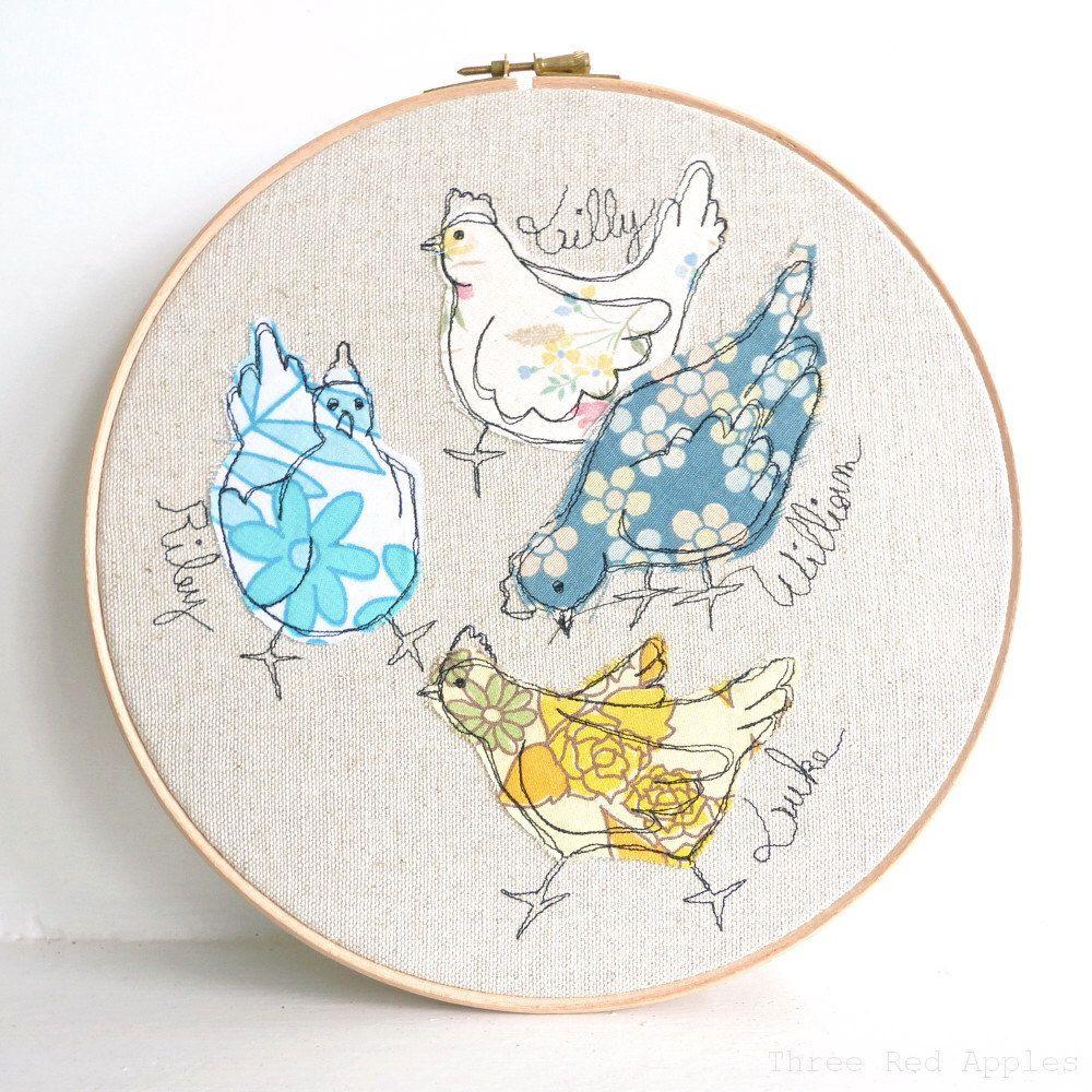 LAST ONE! Me & My Girls - Personalised Embroidered Hoop Art ...