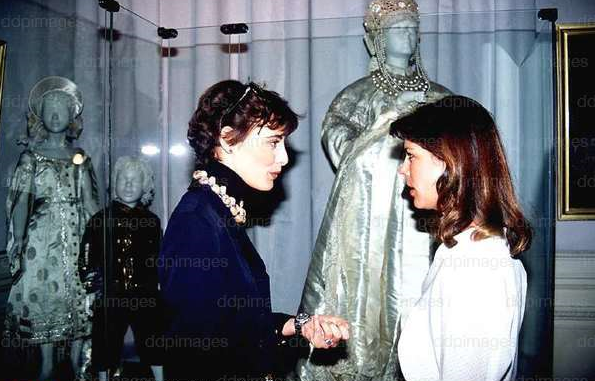 with Ines de la Fressange 19. März 1989