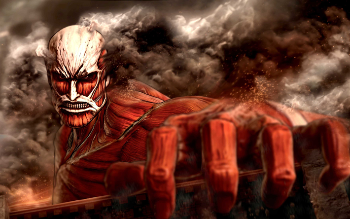 Download wallpapers Attack On Titan 2, 4k, poster, 2018
