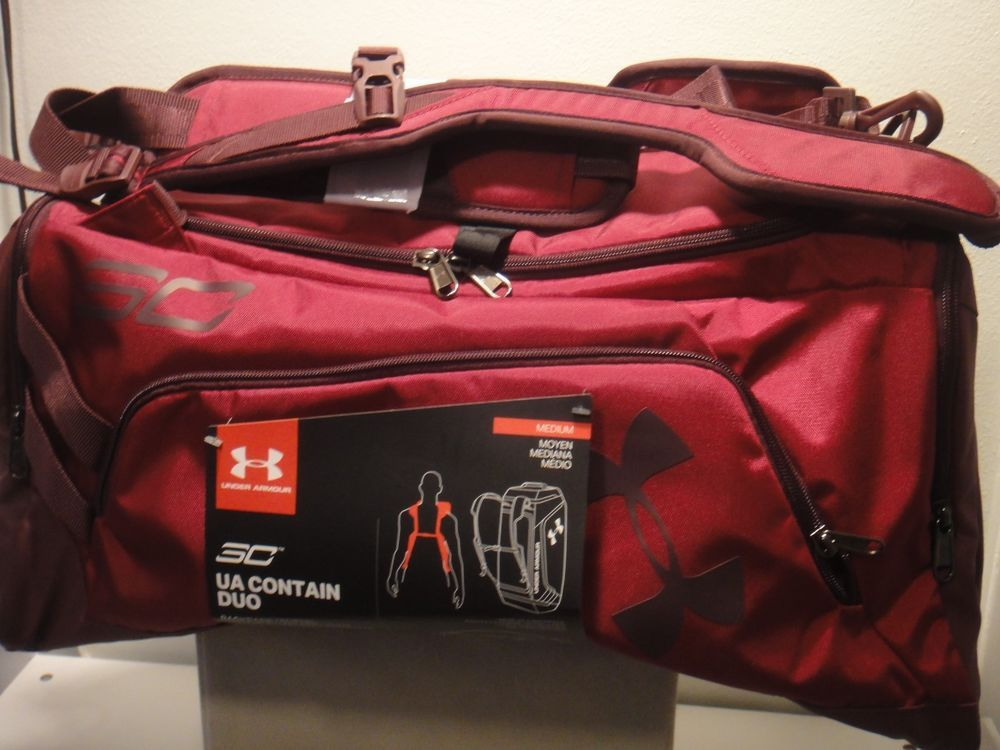 566e6725 Under Armour Strom Steph Curry Contain DUO BackPack Duffle Bag Size ...