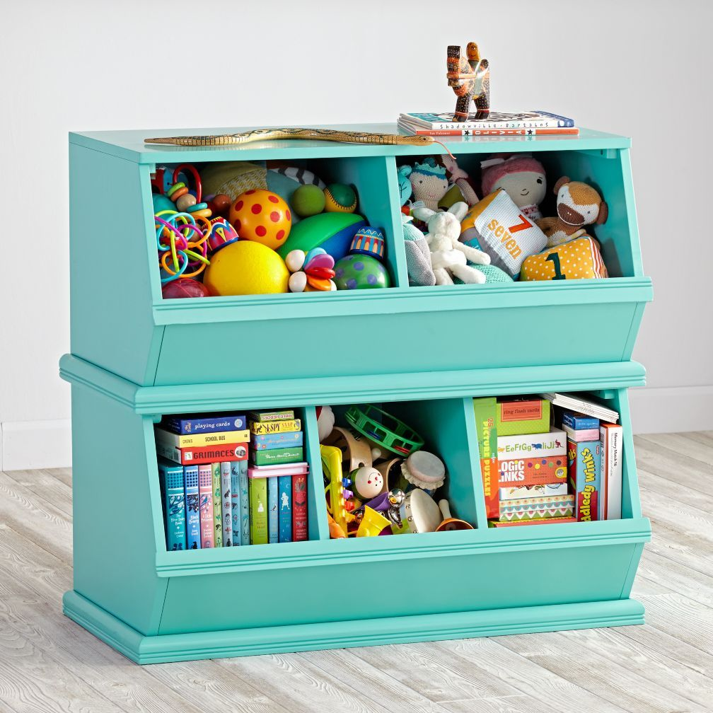 Merveilleux Shop Teal Stackable Toy Storage. Our Most Popular Stackable Toy Storage  Item Comes In A Variety Of Rich Colors. Vegetable Bins Were The Inspiration  For Our ...