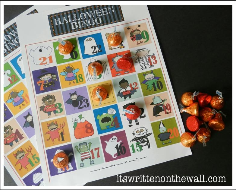 candy as bingo markers makes the game every more fun halloween bingo for - Preschool Halloween Bingo