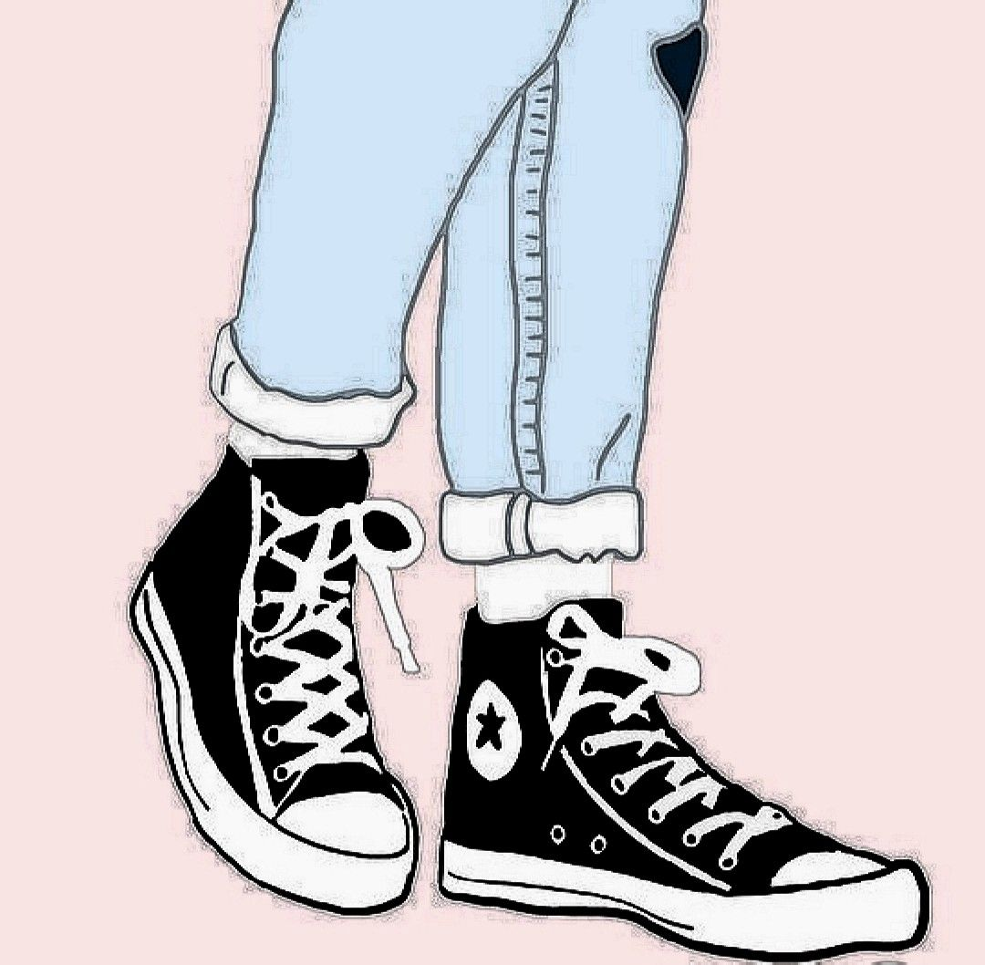 Jeans and shoes cartoon | Converse chuck taylor high top sneaker ...