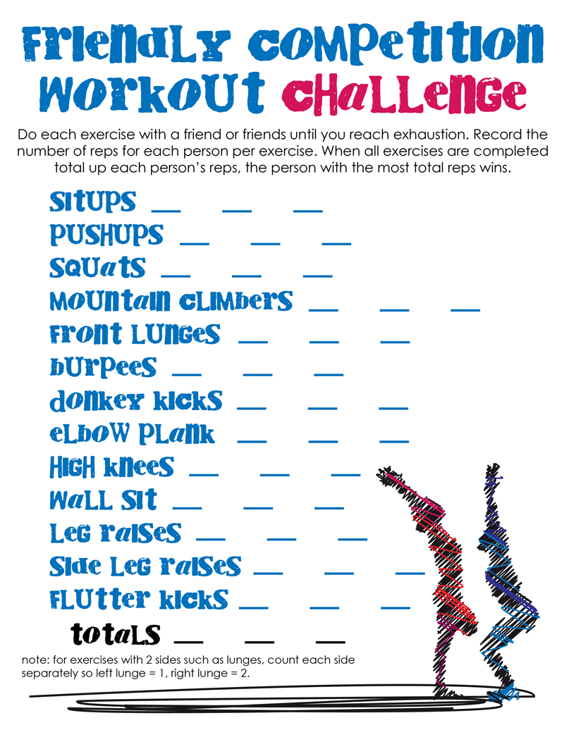 Friendly Competition Workout Challenge