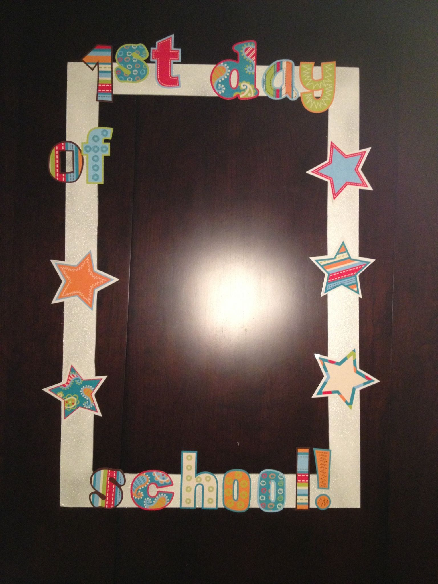 Back to school photo booth frame | Classroom | Pinterest