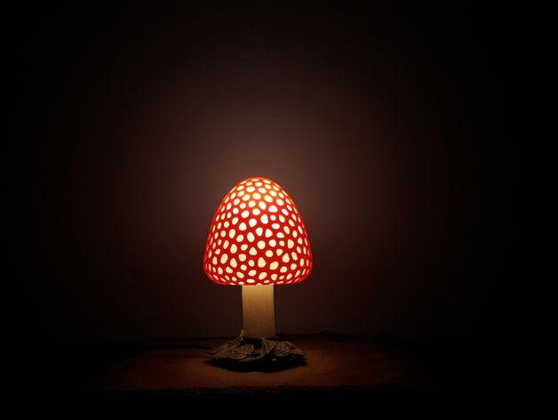 Mushroom Lamp By Protonik Mushroom Lamp Lamp Lamp Bases