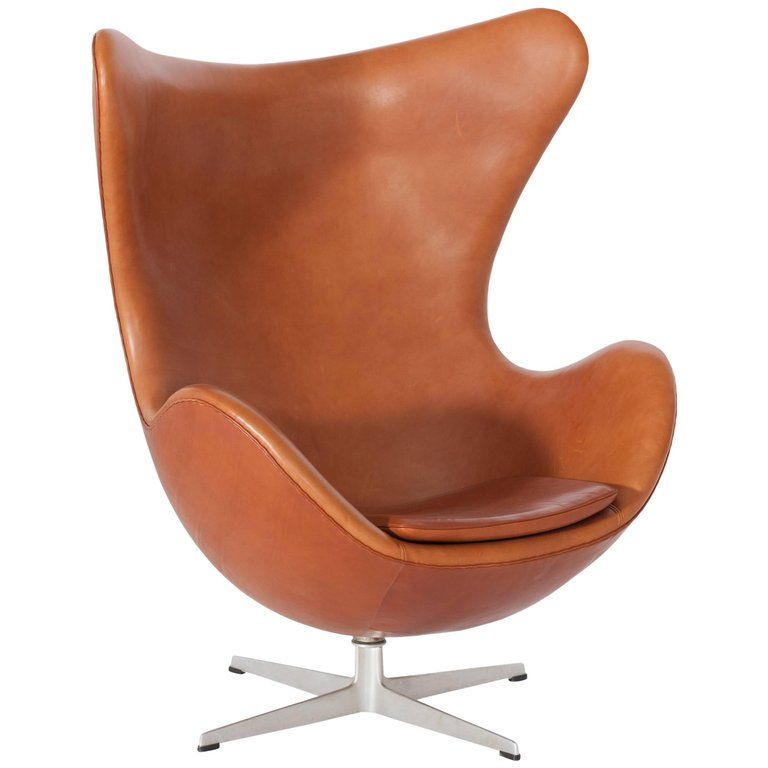 Egg Chair Cognac.Egg Chair In Cognac Leather By Arne Jacobsen 1 Egg Chair Modern