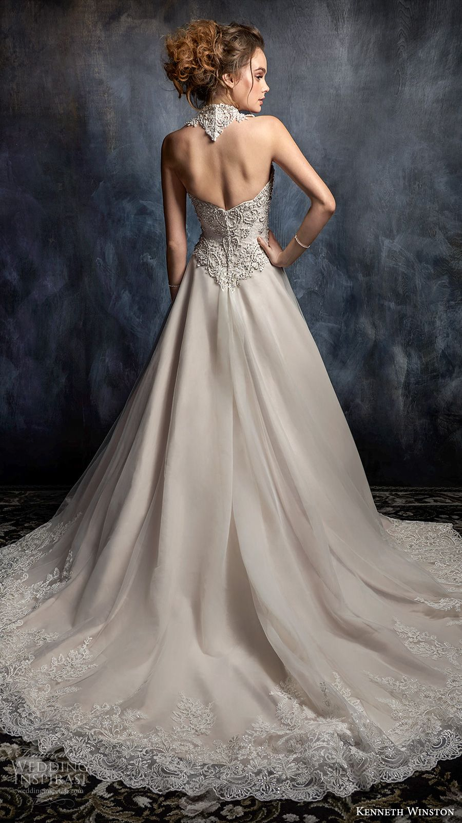 Blush mermaid wedding dress  Kenneth Winston Couture Wedding Dresses u Fall  Bridal