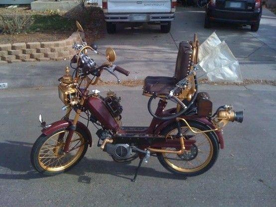 Steampunk Moped Steampunk Motorcycle Moped Steampunk