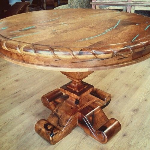 Small Mesquite Dining Table with Rope Edge стол Pinterest