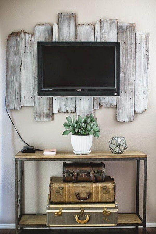 10 Incredible Diy Frames For Your Flat Screen Tv Interior Design