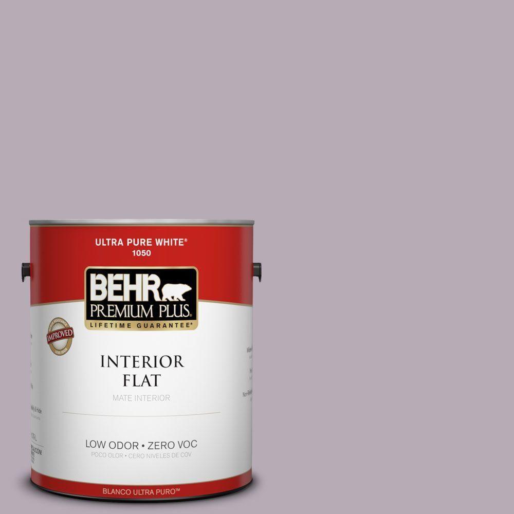 BEHR Premium Plus 1-gal. #670F-4 Silverberry Zero VOC Flat Interior Paint