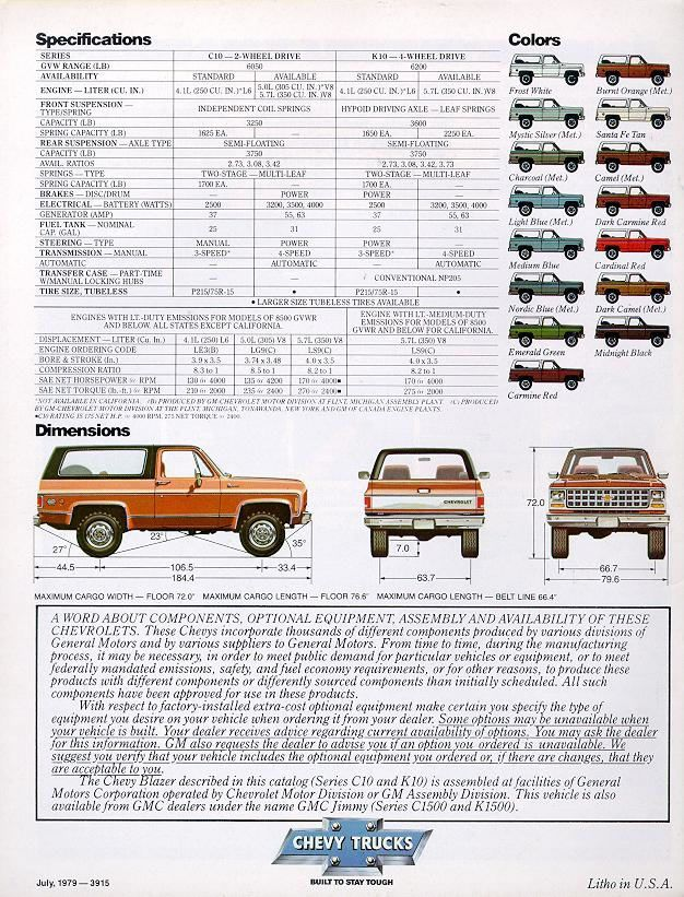 Car Brochures 1980 Chevrolet And Gmc Truck Brochures 1980
