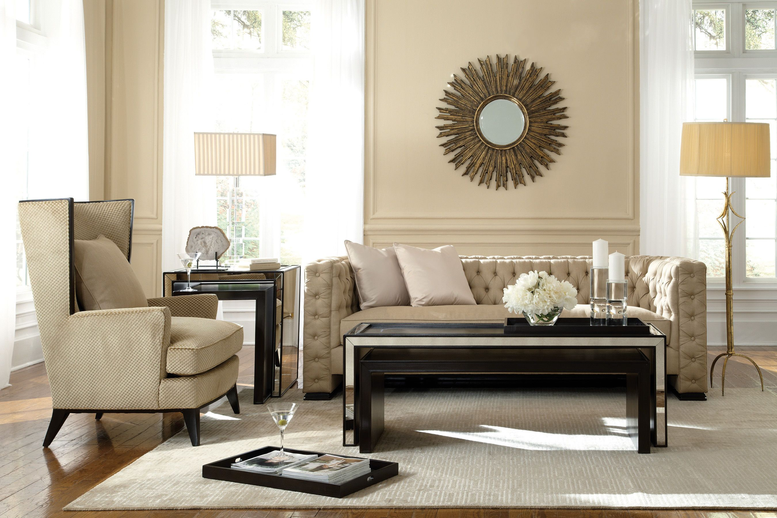 Compositions Living Room Tufted Sofa A850082A Hickory Furniture