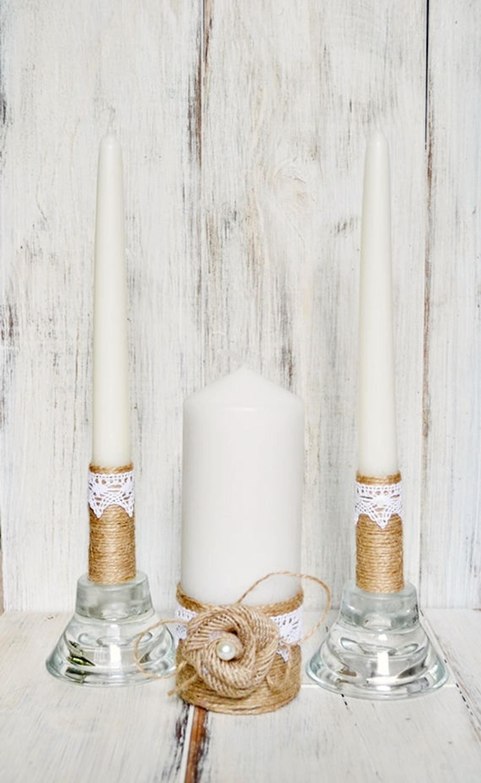 Hochzeit Einheit Kerzen Set Weiss Einheit Kerze Set Zeremonie