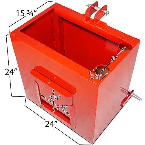 3 Point Ballast Box : Titan attachments category ballast box lb capacity