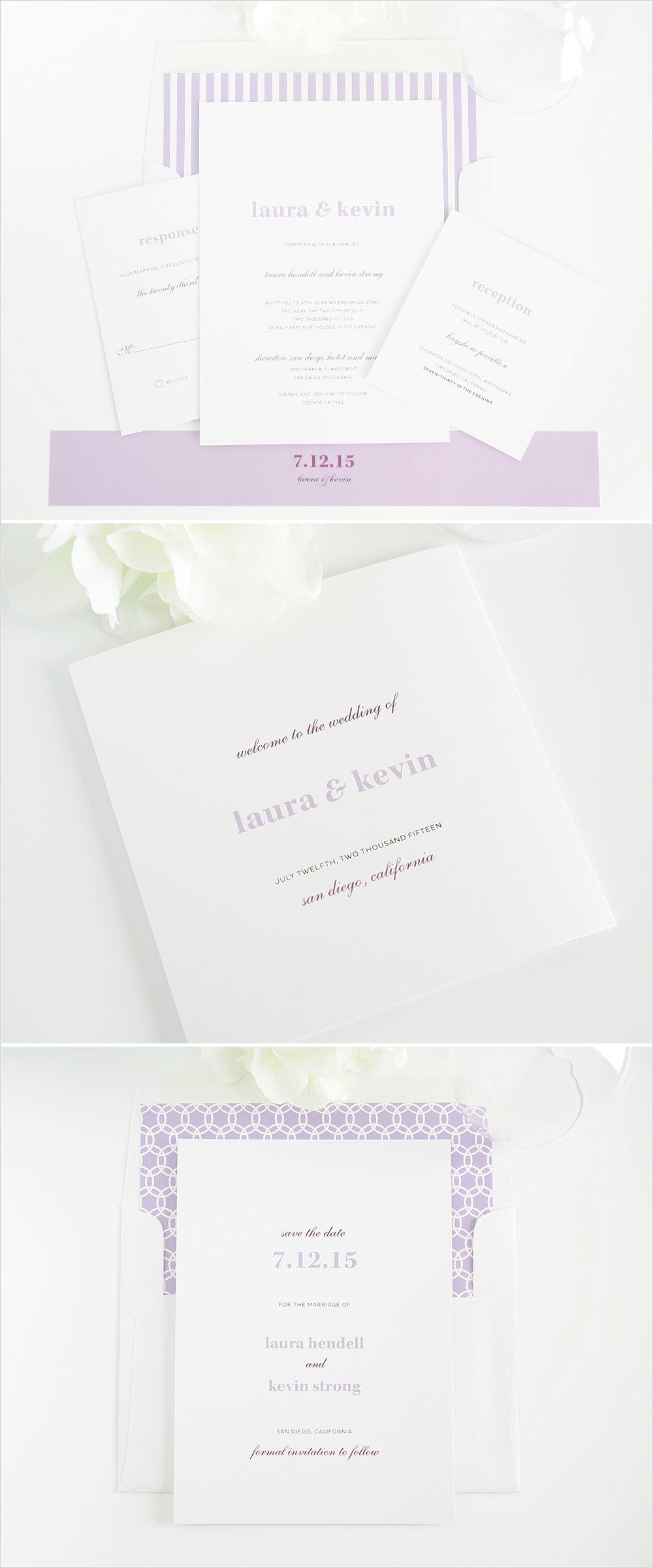 Modern Elegance Wedding Invitations | Stationery, Weddings and ...