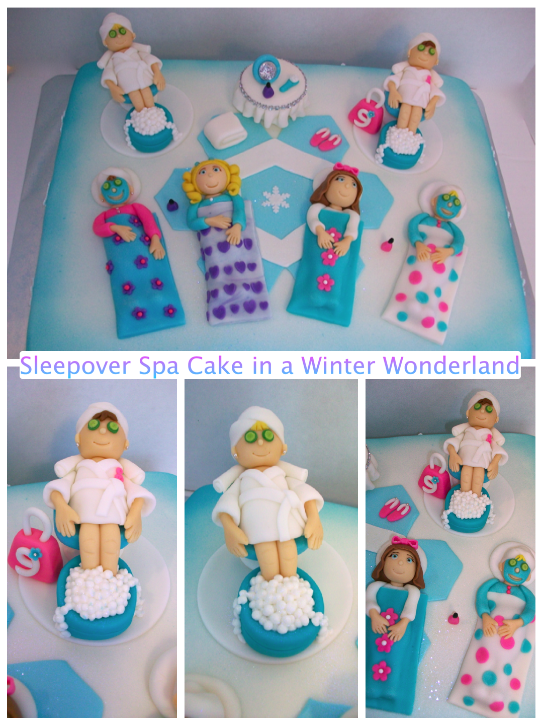 Sleepover spa cakeThis would be perfect for hannahs birthday