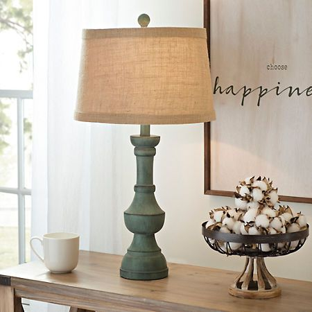Antique Teal Table Lamp Table Lamps Living Room Farmhouse Table