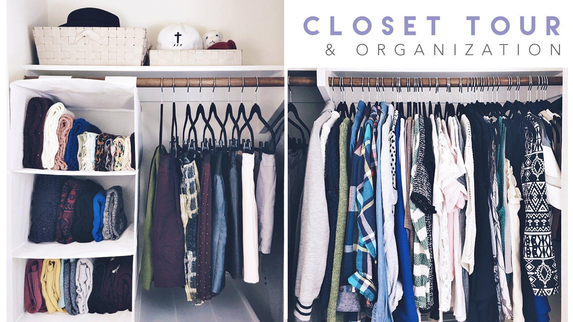 Closet Tour + Organization 2016 | organizing | Closet tour