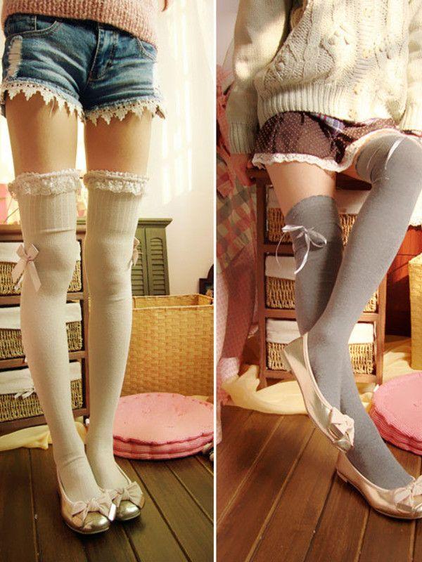 Mori girl lace tube knee socks $6.99 #asianicandy #kneesocks #japanesefashion