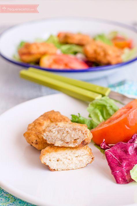 Nuggets De Merluza Ricos Y Nutritivos Pequerecetas Nuggets De Pescado Recetas Con Proteina Recetas Saludables