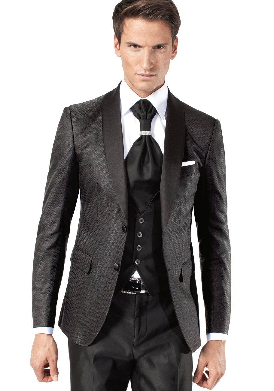 costume 4 pices noir satin costume de mari jean de sey paris - Costume Mariage Homme 3 Pieces