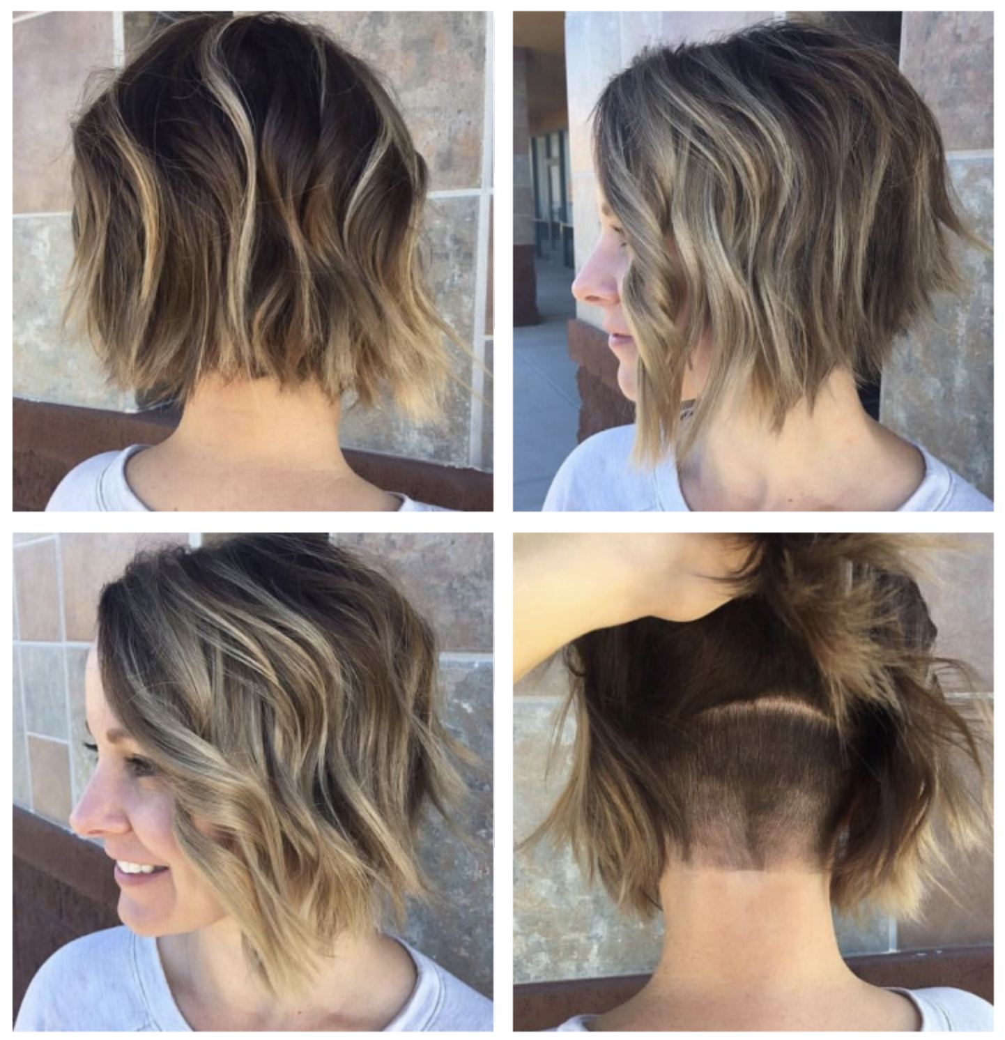 Angled bob with hidden undercut in 2019