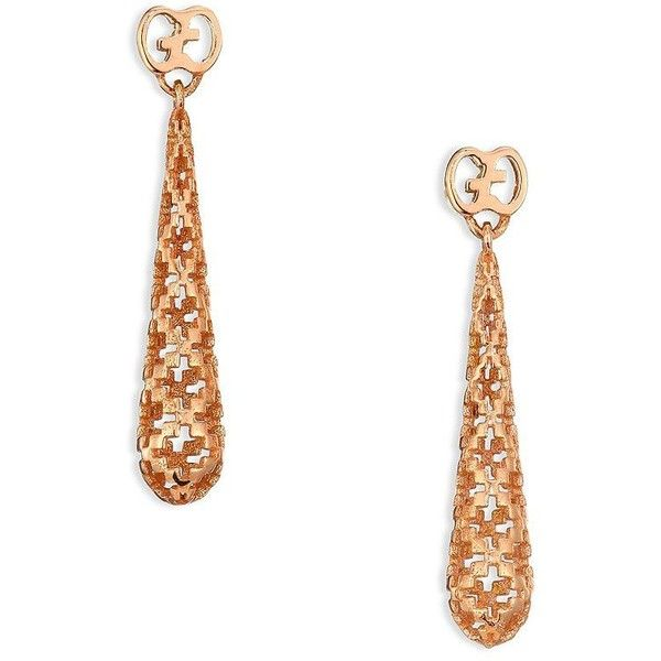 6be31558977 Gucci Diamantissima 18K Rose Gold Teardrop Earrings (9 585 ZAR) ❤ liked on  Polyvore featuring jewelry