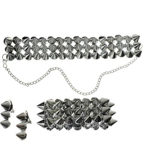 Metallic Stud Jewelry Set - Party City